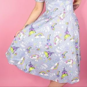 Lindy Bop Dresses - Unicorn and Fairytale Novelty Print Dress